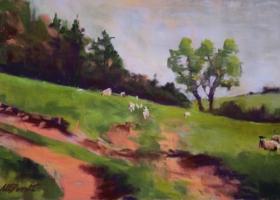 Sheep on a Hillside 2