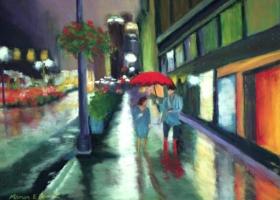 Red Umbrella in New York City