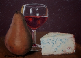 Pear, Wine and Cheese 2