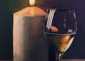Candle and Wine